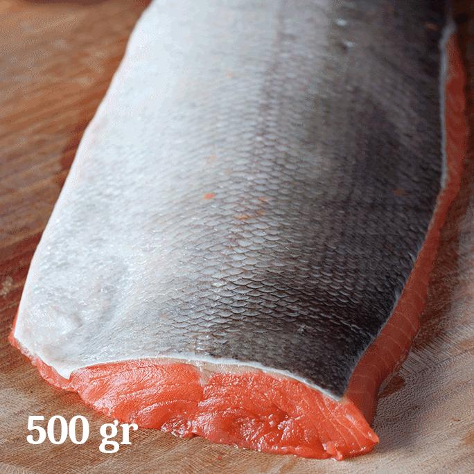 Filetto di salmone selvaggio al naturale tlingit sockey 500gr