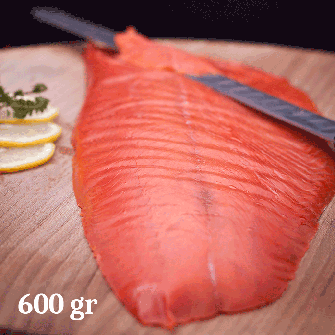 Filetto di salmone selvaggio affumicato tlingit sockey 600gr